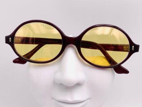 Vintage Dark Brown Oval Horn-Rimed Sunglasses Frames France