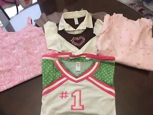 3 Girl's dresses and nightgown lot-size 6/7