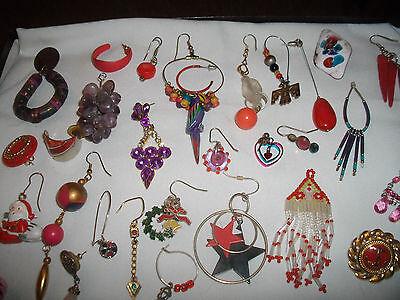 Vintage Lot #13 Of Single Pierced Earrings (Crafts,Parts,Repair/Wear.)