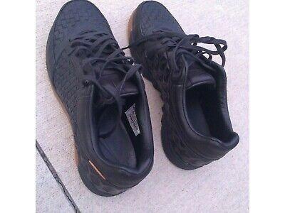nike street gato black brown gum woven soccer indoor shoes sb skateboarding...