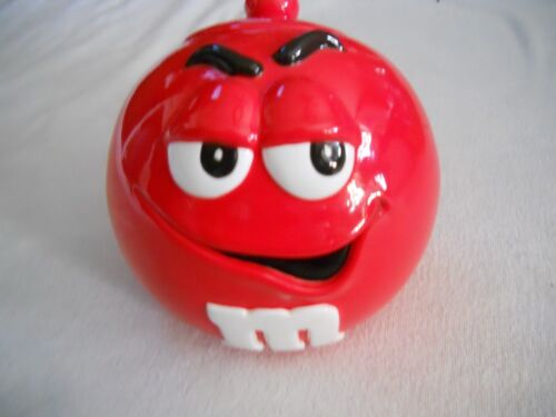 M&Ms Galerie Cookie Jar Red Character With Lid