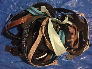 30 belts and a necktie