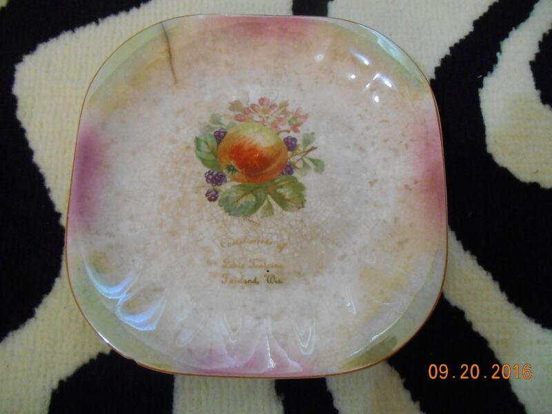Vtg Antique Louis Fontaine Fairland Wisconsin Namur Brussels Plate Limoges Rare