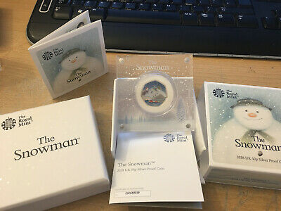 2018 The Snowman 50p Silver Proof Coin Issued By The Royal Mint with low COA 359