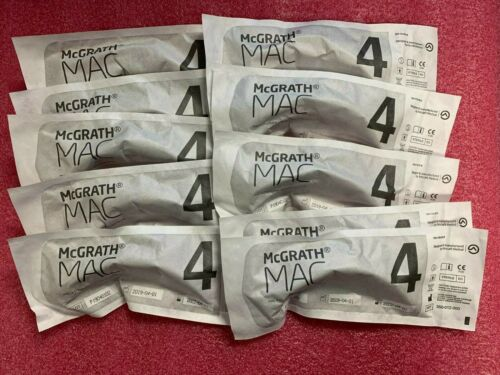 Lot of 10 McGRATH MAC 4 Disposable Laryngoscope Blade