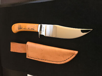 FRED CARTER CUSTOM FIGHTER KNIFE-SCRIM. MICARTA- LOVELESS INSPIRED