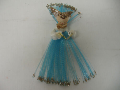 Rare Christmas Angel Ornament Chenille Arms & Spun Cotton Head