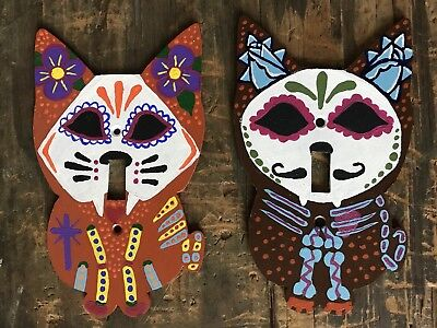 Dia De Los Muertos Cat Light Switch Wall Light Decorations - Dia De Los Muertos Cat