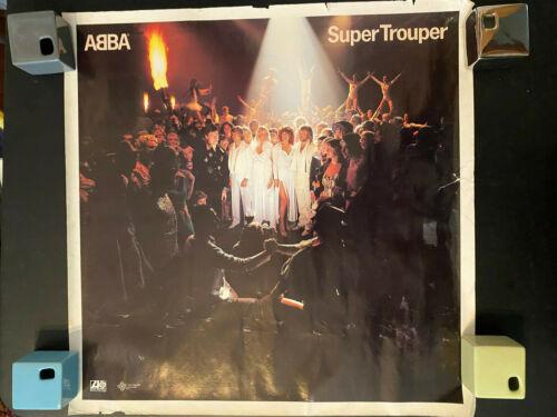 """ABBA Super Trouper 24"""" square promo rolled poster with wear read description"""