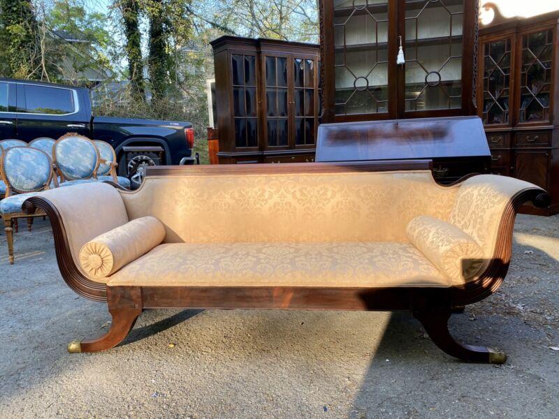 American Classical Style Mahogany Settee Sofa
