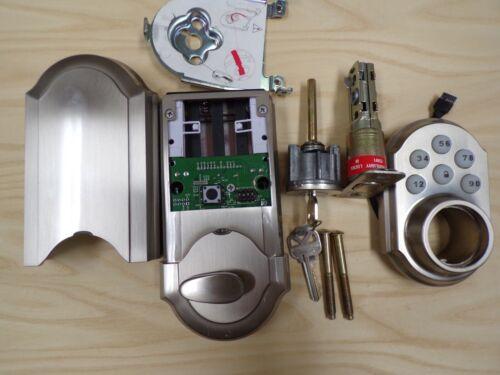 Kwikset 909 Satin Nickel Single Cylinder Electronic Keypad Smart Lock