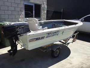 Aluminium tinny Seajay 355 Angler Southport Gold Coast City Preview