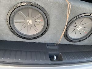 12 inch kicker subs infinity amp
