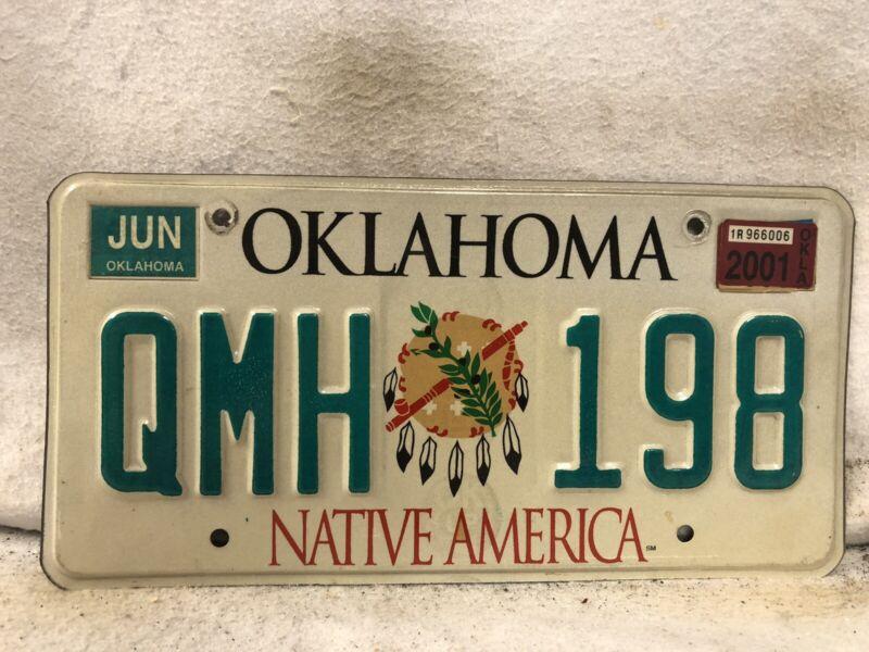 2001 Oklahoma License Plate