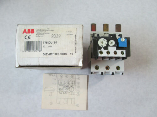 New ABB T75 DU 80 Overload Relay (60 to 80 Amp)