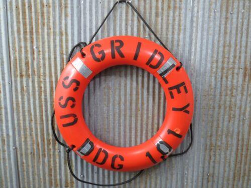 30 inch USS GRIDLEY DDG 101 Navy Naval Life Ring Plastic Preserver -(LR693)