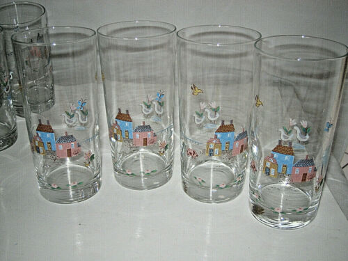 """International China Heartland Drinking Glass Tumbler  6 1/4"""" H Excellent"""