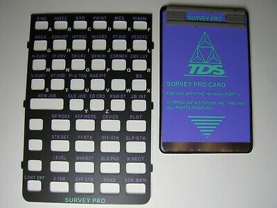 Tds Survey Pro Card With Overlay Version 6.3 For The Hp 48gx
