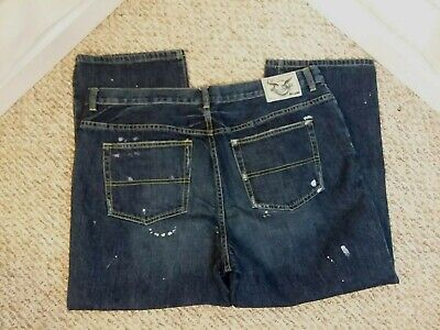 American Living Jeans (American Living Women's Blue Boot Cut Distressed Denim Cotton Jeans Size 16)