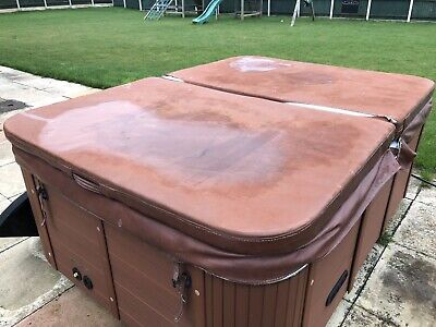 """83"""" X 59"""" Brown Hot Tub Cover used"""