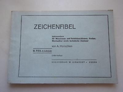 2 Hefte Zeichenfibel Teil 2+3 Maschinen- Betriebsschlosser Dreher Mechaniker tec