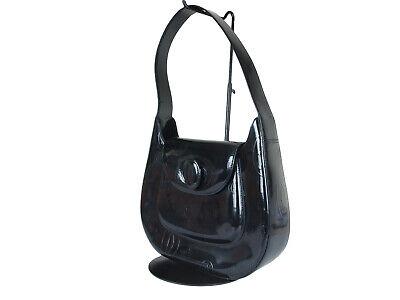 CARTIER Happy Birthday Patent Leather Black Shoulder Bag CS0065