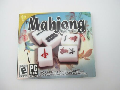 New Sealed Mahjon Epic 400 Unique Game Boards PC CD Rom Game (Rated E)