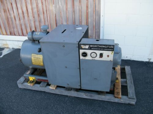 worthington 25 hp rotary vane air compressor ingersoll rand compair screw