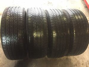 4 Michelin latitude 235/55/18 all season 90% tread