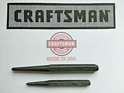 $COMBO$ CRAFTSMAN 42862 1/2 Center Punch & 42841 3/8 Prick Punch  MADE IN -