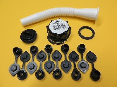 Midwest Gas Can Spout Parts Kit W 10 Free Black Vent Caps Fuel Gallon Diesel