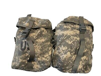 US Military Sustainment Pouches MOLLE II ACU - 2 PACK / VGC