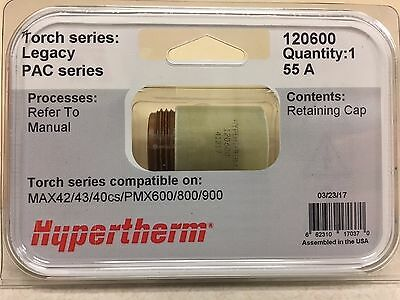 Genuine Hypertherm 120600powermax 600 800 900 Retaining Cap Max 42 43 40cs 55a