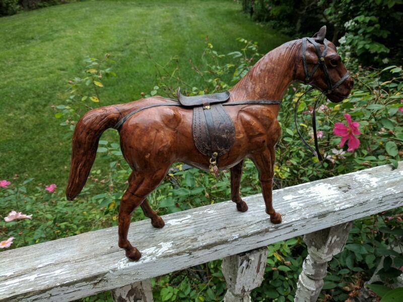 Vintage European Leather Horse