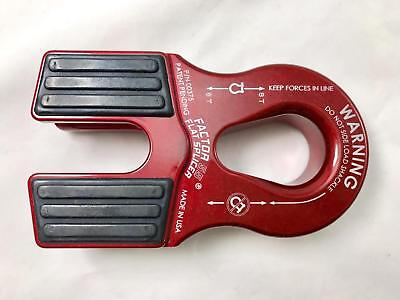 Factor 55 Flat Splicer Foldable Splice-On Winch Shackle Mount RED