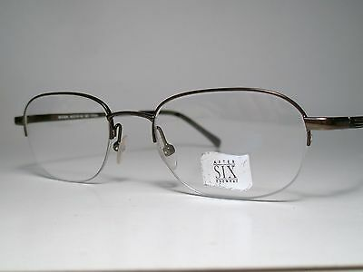 "New AFTER SIX ""ARISTOCRAT"" Cord Rimless Eyeglasses Frame Brown 49-19 Lg List$230"