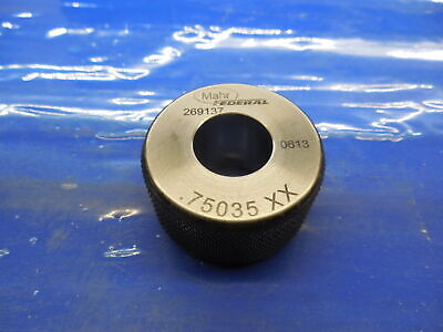 .75035 Class Xx Master Plain Bore Ring Gage .7500.00035 Oversize 34 19.059 Mm