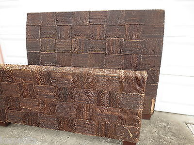 Seagrass Queen Size Bed Cordage Jute Banana Leaf Wicker Coastal Cottage Island
