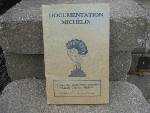 RARE 1932 Michelin Tires Documentation Booklet w/ Bibendum....French
