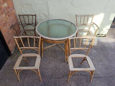 Antique Bamboo Garden Table and 4 Chairs. Made by ANGRAVES (project)
