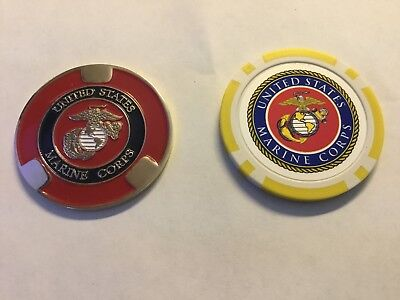 United States Marine Corp Golf Ball Marker- 2 for 1 NEW!! $1.00 shipping