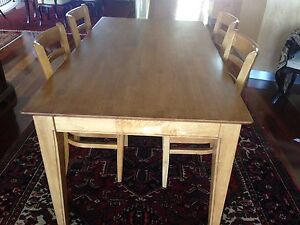 timber table and six chairs Mosman Mosman Area Preview