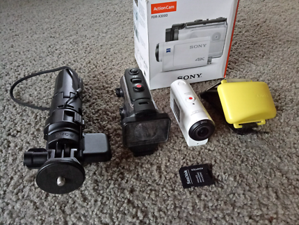 Sony FDR-X3000 4K Video Action Camera with extras.