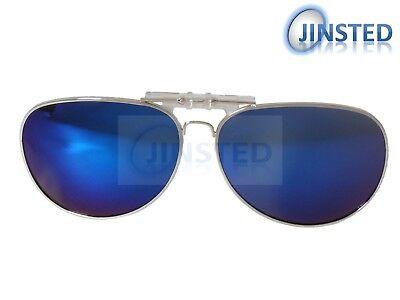 Azul Reflectante Gafas de Sol Polarizado Abatible con Clip Pilot Shades ACP015 segunda mano  Embacar hacia Argentina