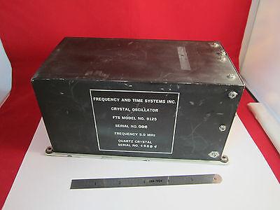Space Grade Quartz Oscillator Fts 5 Mhz Frequency Standard Very Rare Bin8z