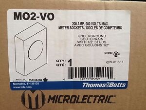 Thomas & Betts floor box and meter sockets