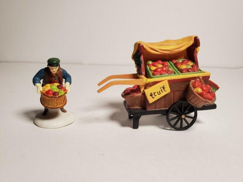 Christmas Village Dept 56 Heritage Fruit Monger Accessory