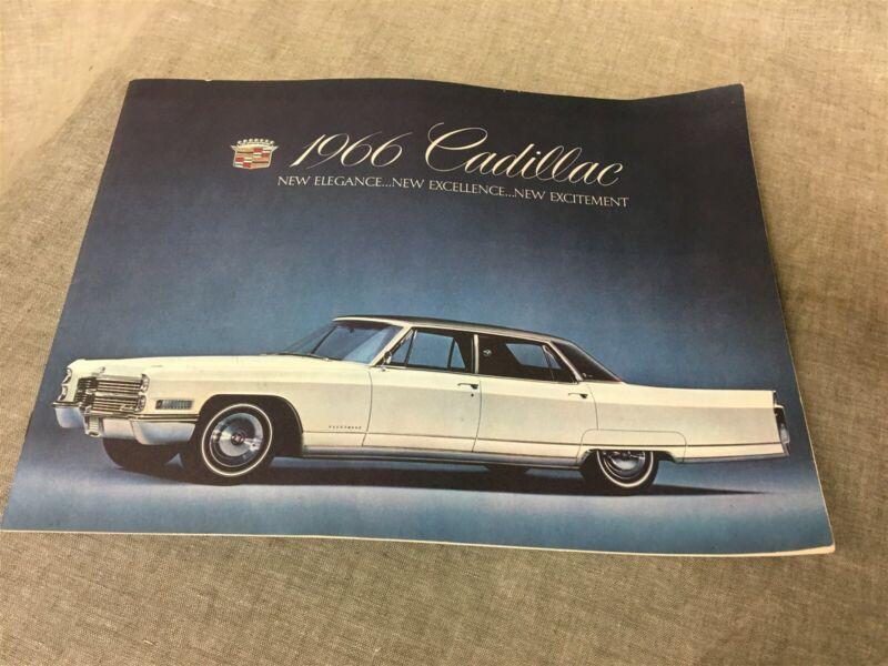 Original 1966 Cadillac 16 Page Full Line Sale Brochure
