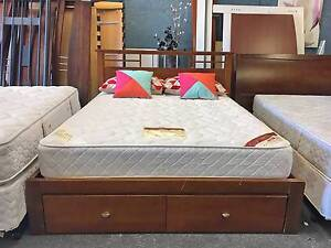 DELIVERY TODAY LUXURY MODERN Queen bed & mattress BUILT IN DRAWER Belmont Belmont Area Preview