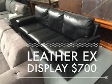 3 Seat Leather Sofa - 70% off SALE Dandenong South Greater Dandenong Preview